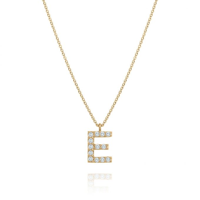 maidor diamond letter pendant