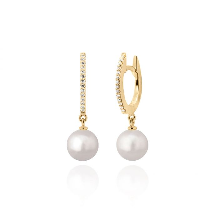 maidor pearl drop hoops