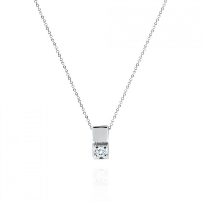 maidor modern diamond necklace