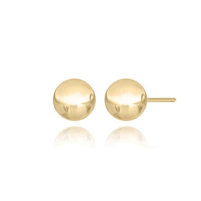 maidor gold ball earrings