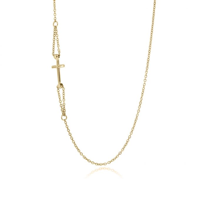 cross necklace 18k yellow gold