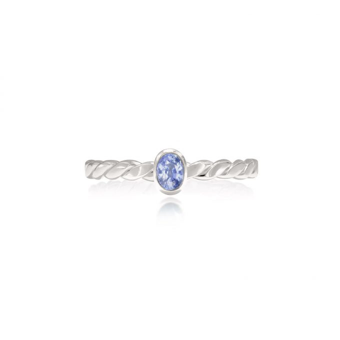 Oval Cut Sapphire Ring