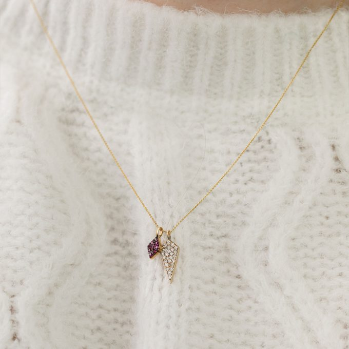 Diamond and Ruby Legend Necklace