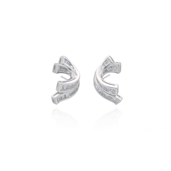 diamond ribbon earrings
